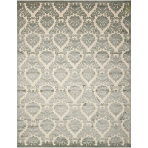 "Nourison Ultima 3'6"" x 5'6"" Ivory Green Rectangle Rug"