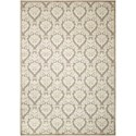 "Nourison Ultima 2'6"" x 4' Silver/Ivory Rectangle Rug - Item Number: UL513 SILIV 26X4"