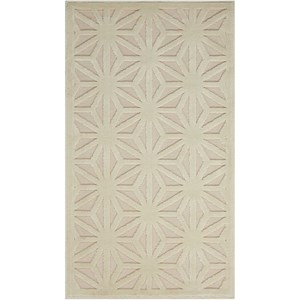 "Nourison Ultima 7'9"" x 10'10"" Silver/Ivory Rectangle Rug"