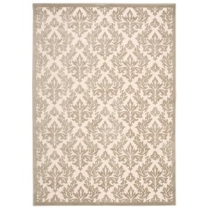 "Nourison Ultima 5'3"" x 7'3"" Ivory/Silver Rectangle Rug"