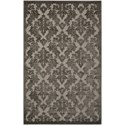 "Nourison Ultima 3'6"" x 5'6"" Silver Grey Rectangle Rug - Item Number: UL632 SILGY 36X56"