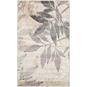 "Nourison Utopia 3'6"" x 5'6"" Silver Rectangle Rug"
