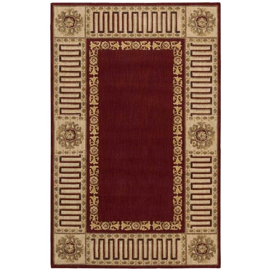 "3'6"" x 5'6"" Burgundy Rectangle Rug"