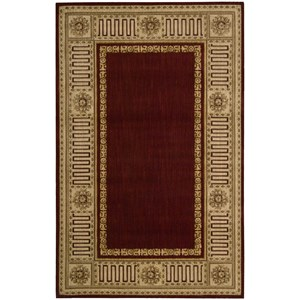 "Nourison Vallencierre 5'3"" x 8'3"" Burgundy Rectangle Rug"