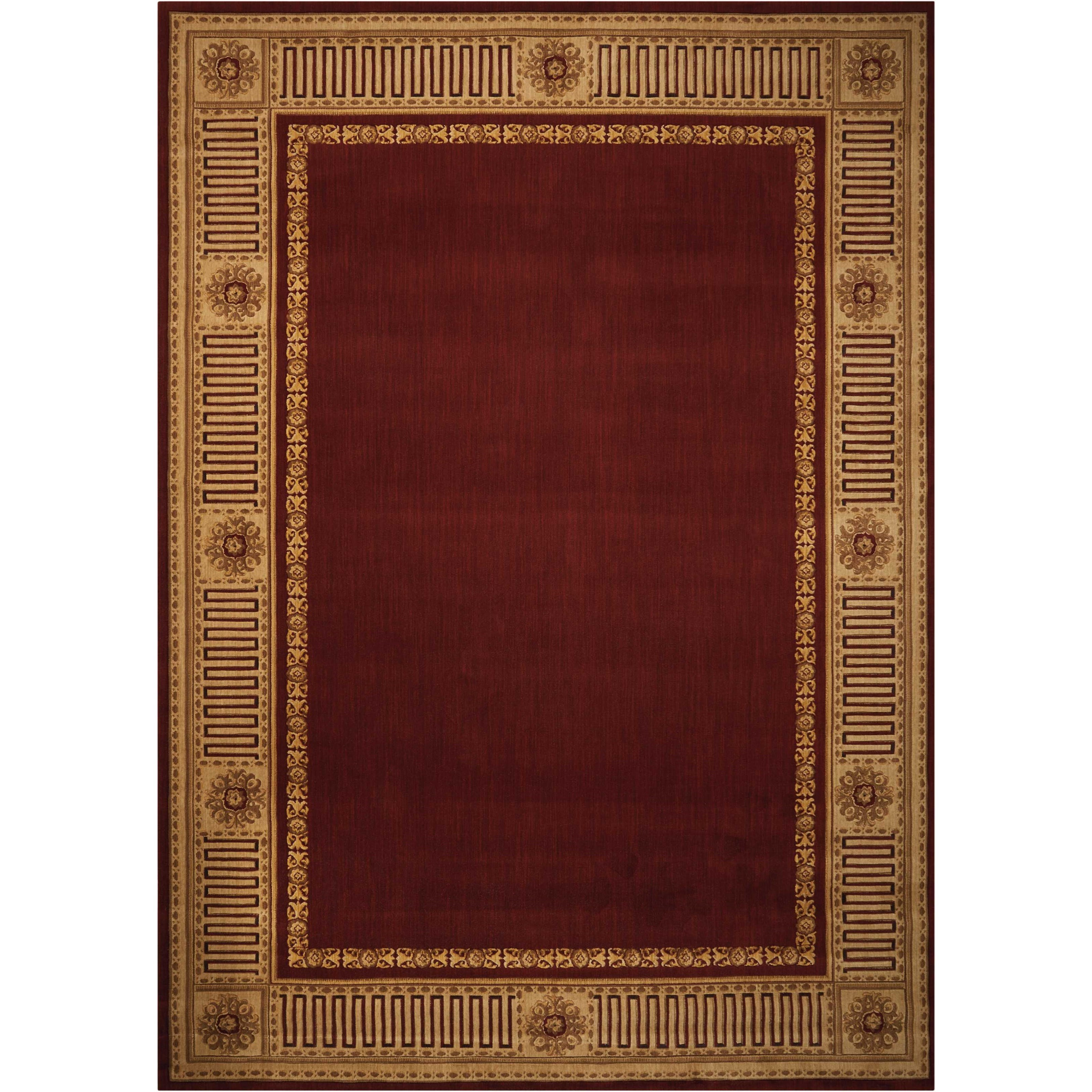 "8'3"" x 11'3"" Burgundy Rectangle Rug"