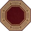 Nourison Vallencierre 8' x 8' Burgundy Octagon Rug - Item Number: VA17 BUR 8X8
