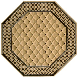8' x 8' Beige Octagon Rug