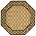 Nourison Vallencierre 8' x 8' Beige Octagon Rug - Item Number: VA26 BGE 8X8