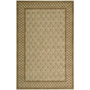 "Nourison Vallencierre 5'3"" x 8'3"" Light Green Rectangle Rug"