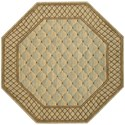 "Nourison Vallencierre 5'6"" x 5'6"" Light Green Octagon Rug - Item Number: VA26 LTG 56X56"