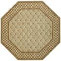 Nourison Vallencierre 8' x 8' Light Green Octagon Rug - Item Number: VA26 LTG 8X8