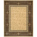 "Nourison Vallencierre 8'3"" x 11'3"" Beige Rectangle Rug - Item Number: VA27 BGE 83X113"