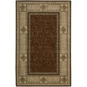 "Nourison Vallencierre 5'3"" x 8'3"" Brown Rectangle Rug - Item Number: VA27 BRN 53X83"
