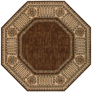 "Nourison Vallencierre 5'6"" x 5'6"" Brown Octagon Rug"