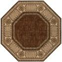 Nourison Vallencierre 8' x 8' Brown Octagon Rug - Item Number: VA27 BRN 8X8