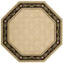 """Nourison Vallencierre 5'6"""" x 5'6"""" Beige Black Octagon Rug - Item Number: VA35 BGEBK 56X56"""