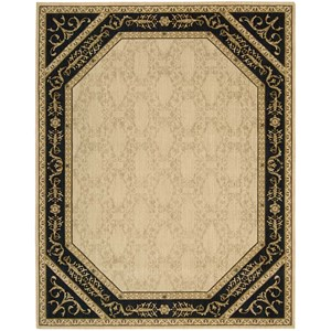 "Nourison Vallencierre 8'3"" x 11'3"" Beige Black Rectangle Rug"