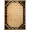 "Nourison Vallencierre 9'9"" x 13'9"" Beige Black Rectangle Rug - Item Number: VA35 BGEBK 99X139"