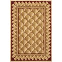 Nourison Vallencierre 2' x 3' Camel Rectangle Rug - Item Number: VA73 CAM 2X3