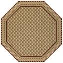 Nourison Vallencierre 8' x 8' Camel Octagon Rug - Item Number: VA73 CAM 8X8