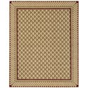 "Nourison Vallencierre 9'9"" x 13'9"" Camel Rectangle Rug - Item Number: VA73 CAM 99X139"