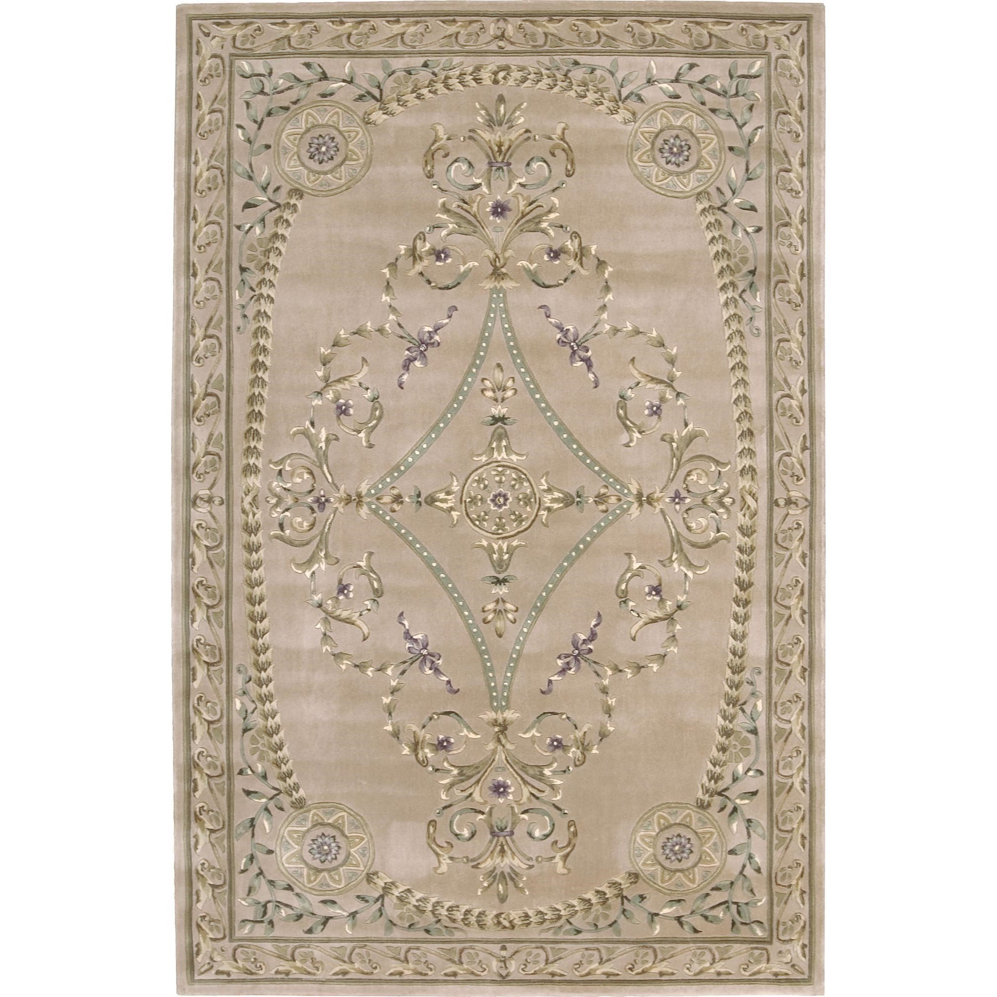 "Nourison Versailles Palace 9'6"" x 13'6"" Beige Area Rug - Item Number: 26215"