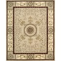 "Nourison Versailles Palace 7'6"" x 9'6"" Beige Area Rug - Item Number: 28707"