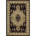 "Nourison Versailles Palace 3'6"" x 5'6"" Black Area Rug - Item Number: 77432"