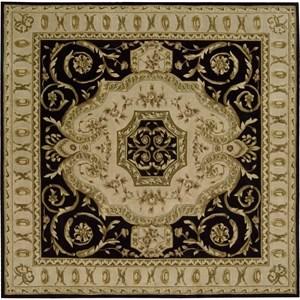 Nourison Versailles Palace 8' x 8' Black Area Rug
