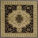 Nourison Versailles Palace 8' x 8' Black Area Rug - Item Number: 77459