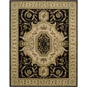 "Nourison Versailles Palace 7'6"" x 9'6"" Black Area Rug - Item Number: 77468"