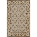 "Nourison Versailles Palace 3'6"" x 5'6"" Beige Area Rug - Item Number: 77930"