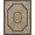 "Nourison Versailles Palace 7'6"" x 9'6"" Beige Area Rug - Item Number: 77993"