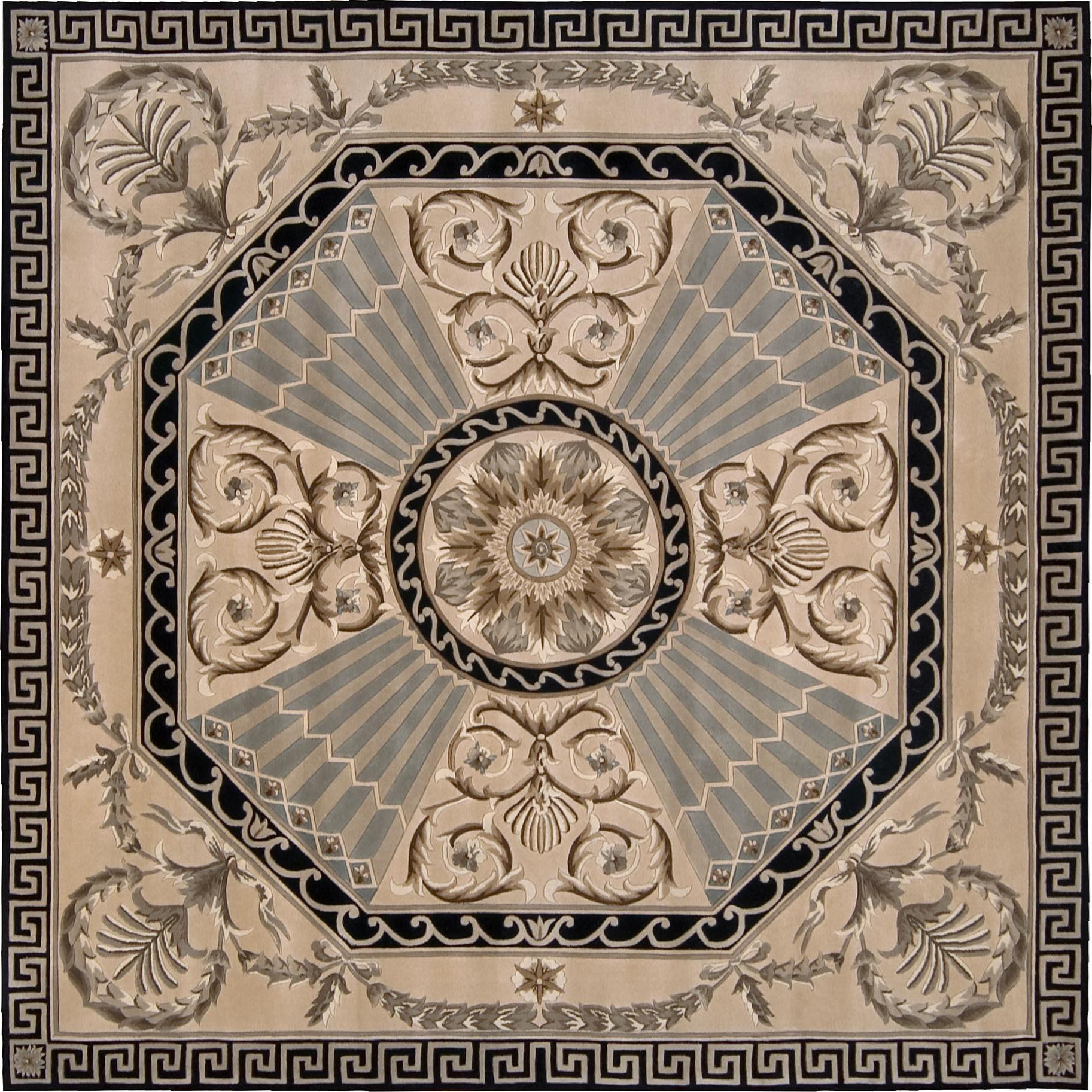Nourison Versailles Palace 8' x 8' Beige Area Rug - Item Number: 78101