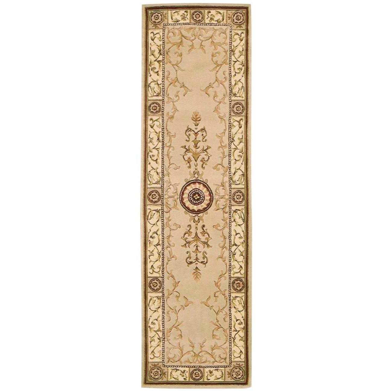 "Nourison Versailles Palace 2'3"" x 8' Beige Runner Rug - Item Number: VP04 BGE 23X8"