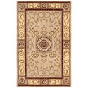 "Nourison Versailles Palace 5'3"" x 8'3"" Beige Rectangle Rug - Item Number: VP04 BGE 53X83"