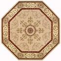 Nourison Versailles Palace 6' x 6' Beige Octagon Rug - Item Number: VP04 BGE 6X6