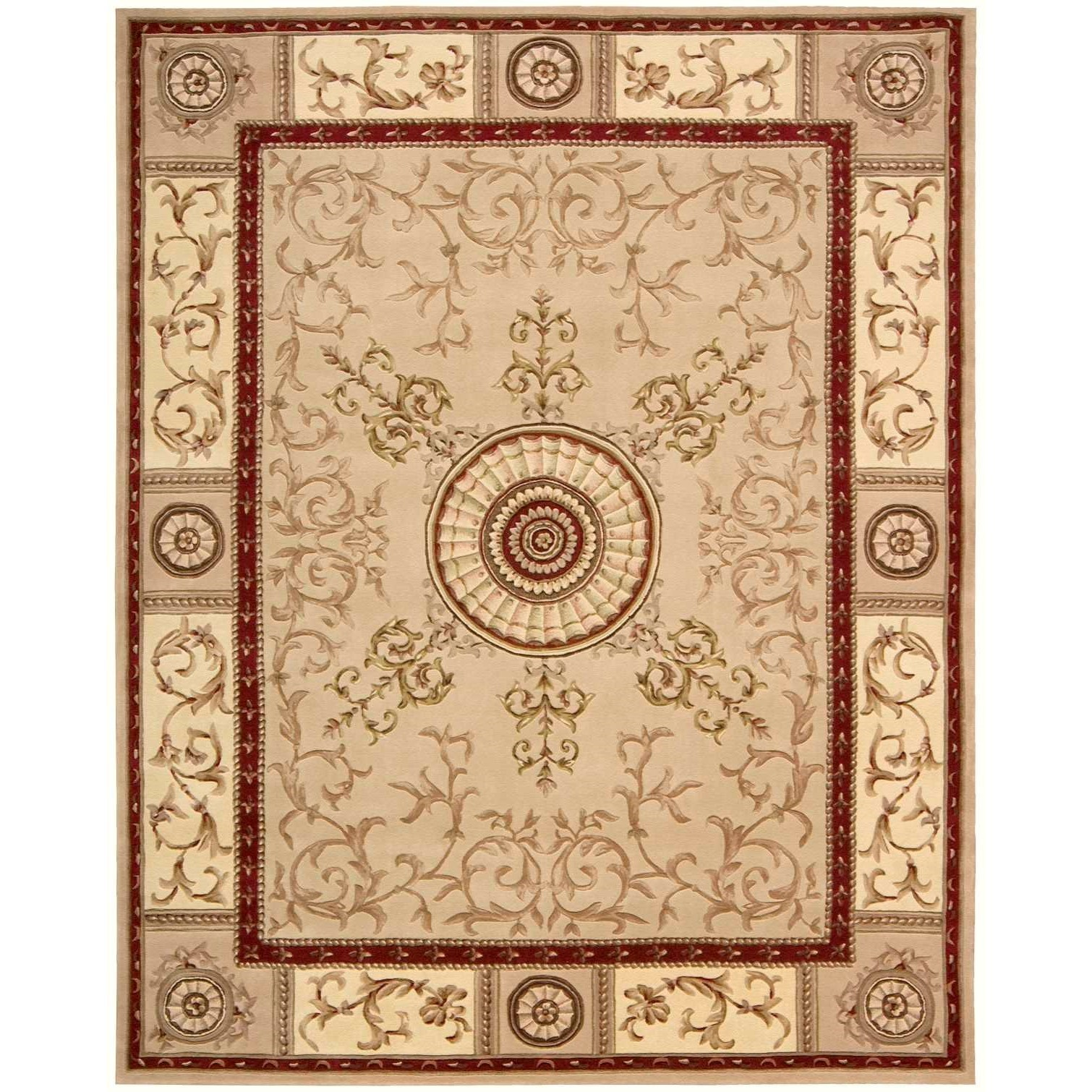 "Nourison Versailles Palace 7'6"" x 9'6"" Beige Rectangle Rug - Item Number: VP04 BGE 76X96"