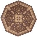 Nourison Versailles Palace 6' x 6' Mushroom Octagon Rug - Item Number: VP05 MSH 6X6
