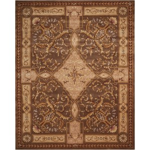 "Nourison Versailles Palace 7'6"" x 9'6"" Mushroom Rectangle Rug"