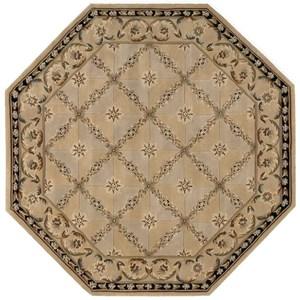 Nourison Versailles Palace 6' x 6' Beige Octagon Rug