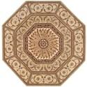Nourison Versailles Palace 6' x 6' Sage Octagon Rug - Item Number: VP10 SAG 6X6