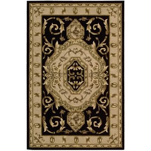 "Nourison Versailles Palace 5'3"" x 8'3"" Black Rectangle Rug"