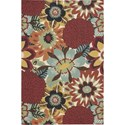 Nourison Vista 4' x 6' Multicolor Area Rug - Item Number: 13820