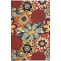 Nourison Vista 4' x 6' Multicolor Rectangle Rug - Item Number: VIS53 MTC 4X6