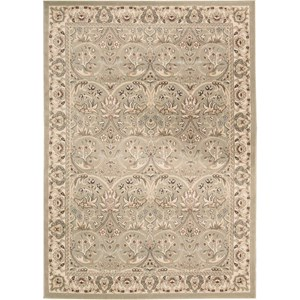 "Nourison Walden 7'10"" X 10'6"" Light Green Rug"