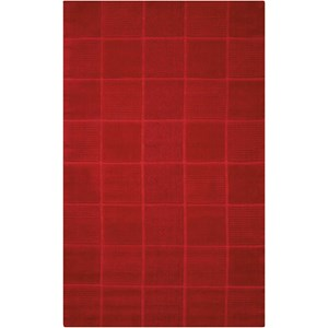 "Nourison Westport 3'6"" x 5'6"" Red Rectangle Rug"