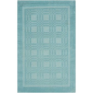 "Nourison Westport 3'6"" x 5'6"" Aqua Rectangle Rug"