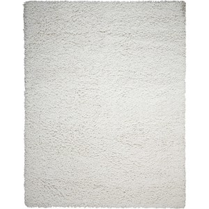 "Nourison Zen 5'6"" x 7'5"" White Rectangle Rug"