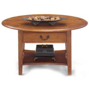 Null Furniture 1900 International Accents Petite Oval Cocktail Table